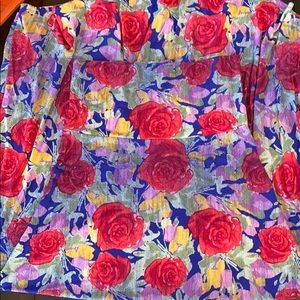 Maxi skirt roses stretchy soft LuLaRoe NWT